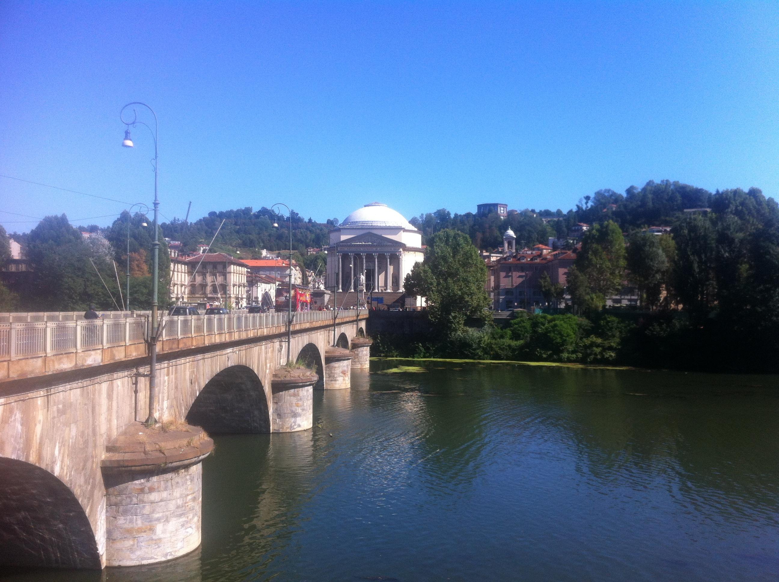 Torino - vista della Chiesa della Gran Madre di Dio