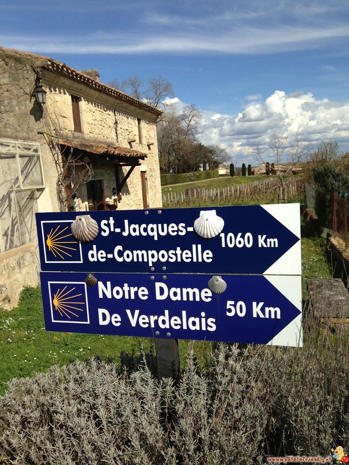 I cartelli verso Santiago de Compostela