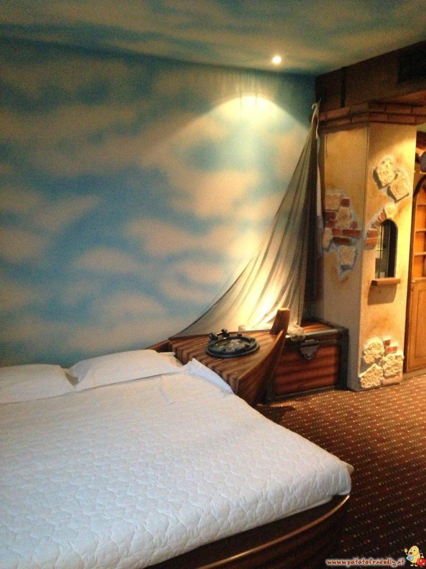 La camera a tema Pirati del Grand Hotel Mattei