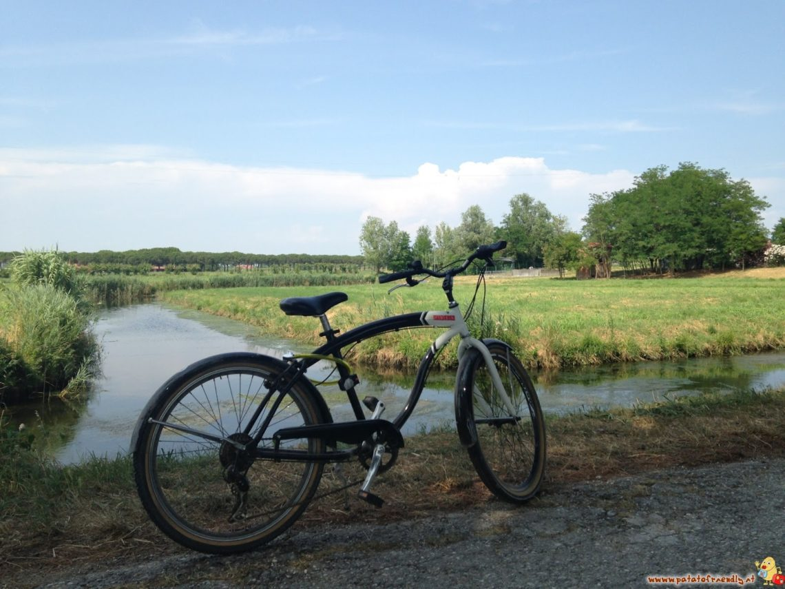 La campagna di Bibione in bicicletta