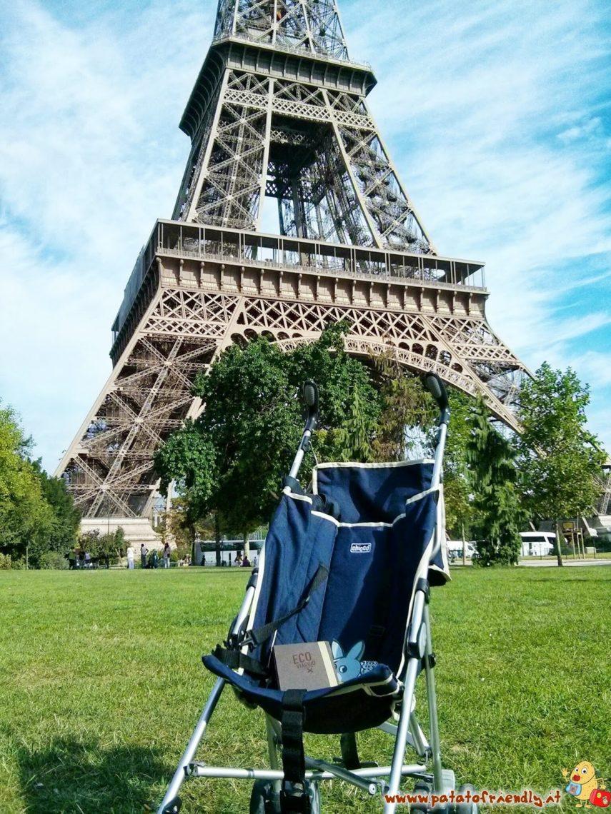 La pousette alla Tour Eiffel