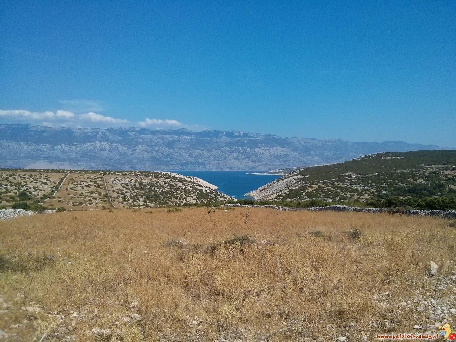 Il Velebit visto da Pag il mare