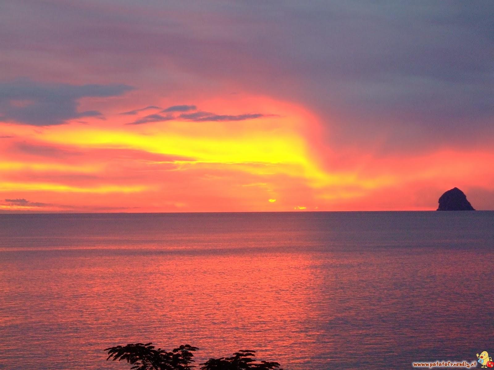 Lo splendido tramonto della Martinica durante la nostra baby-moon in gravidanza
