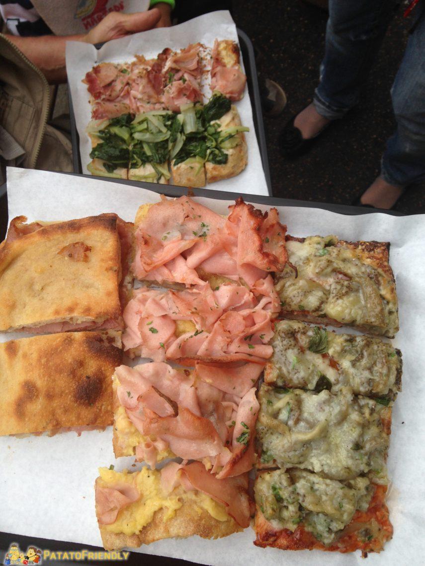 La famosa pizza al taglio di Bonci