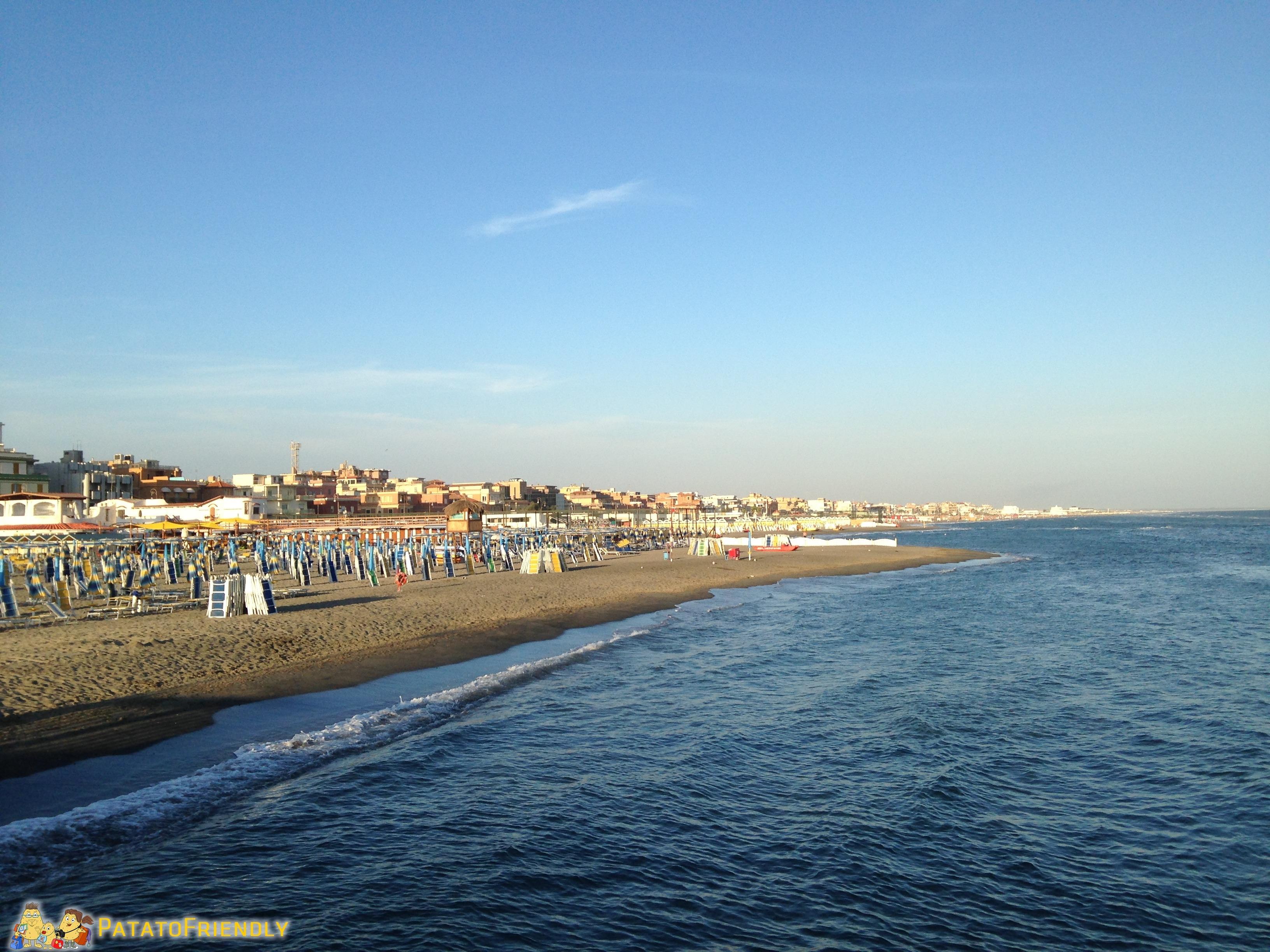 La spiaggia del Lido di Ostia