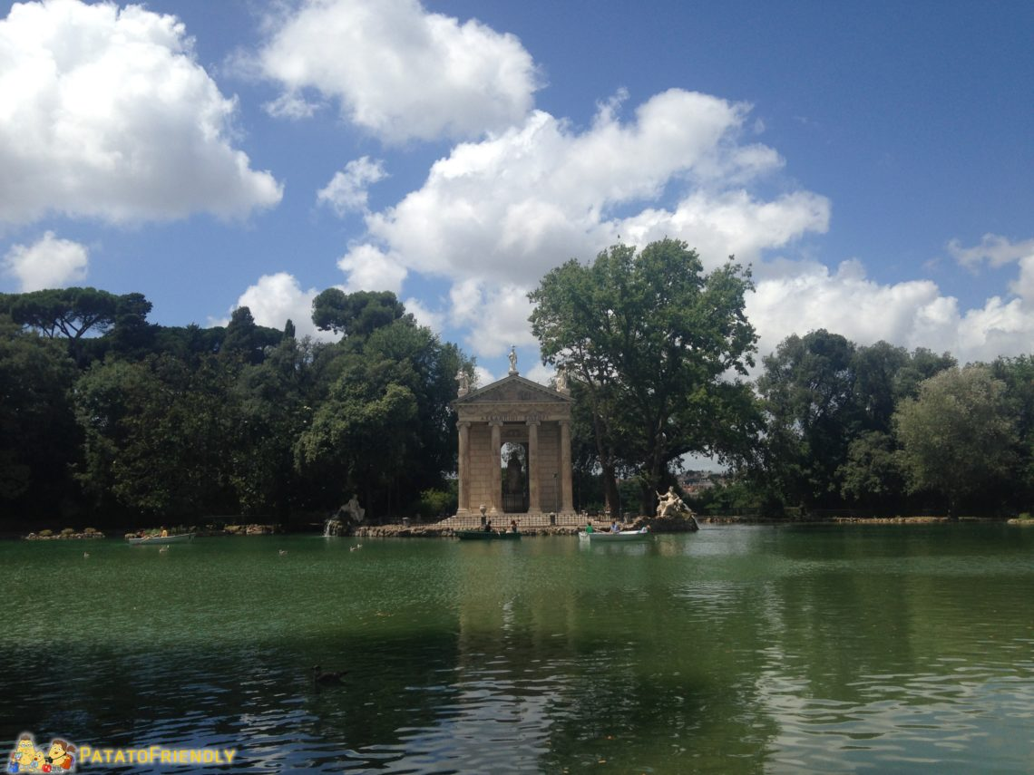 Il parco di Villa Borghese