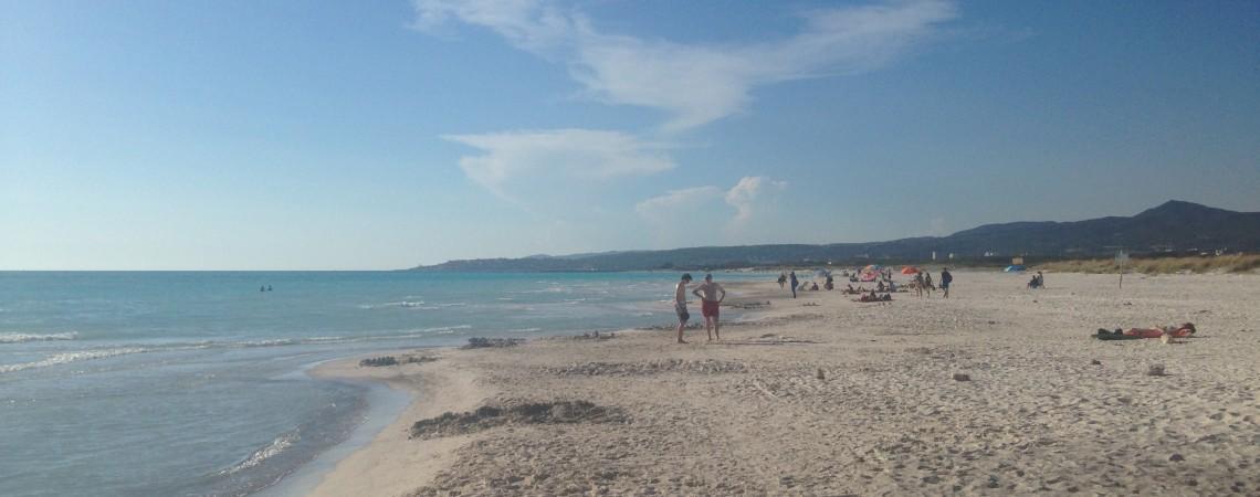 La spiaggia di sabbia bianca di Rosignano