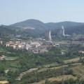 Veduta della Valle del Diavolo in Toscana