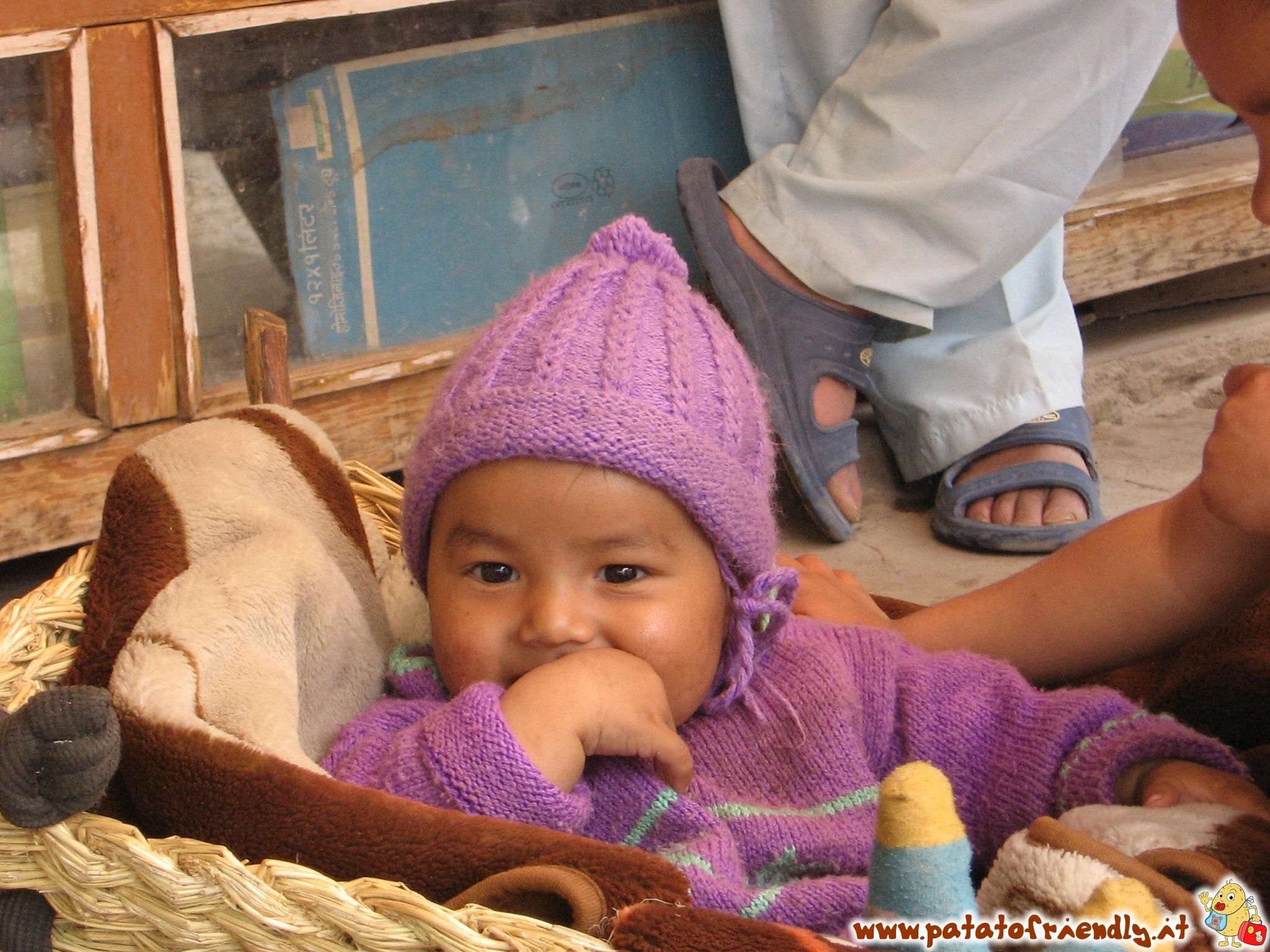 Il bimbo viola del Ladakh