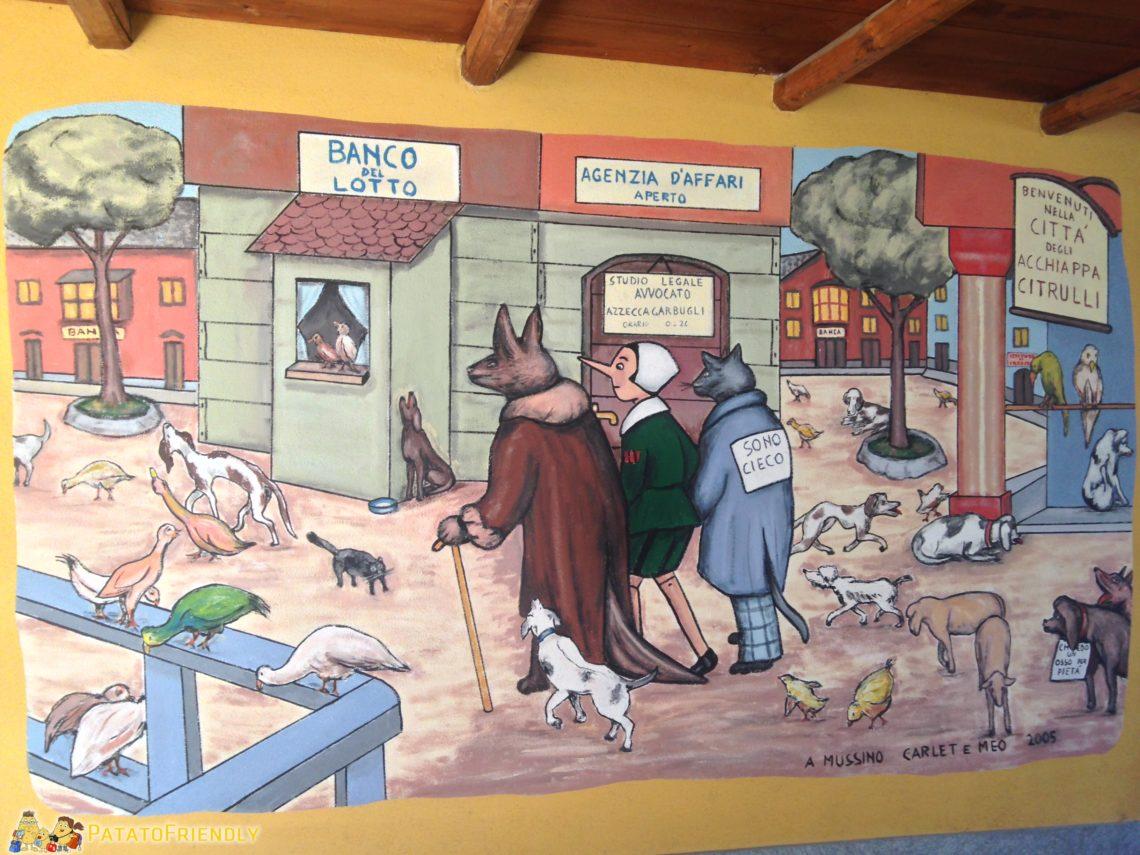 [cml_media_alt id='3863']Pinocchio, il Gatto e la Volpe in uno dei tanti murales di Vernante[/cml_media_alt]