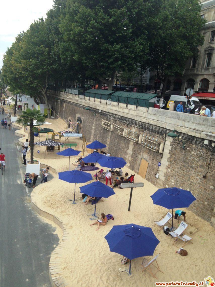 Parigi con i bambini: la spiaggia allestita lungo la Senna