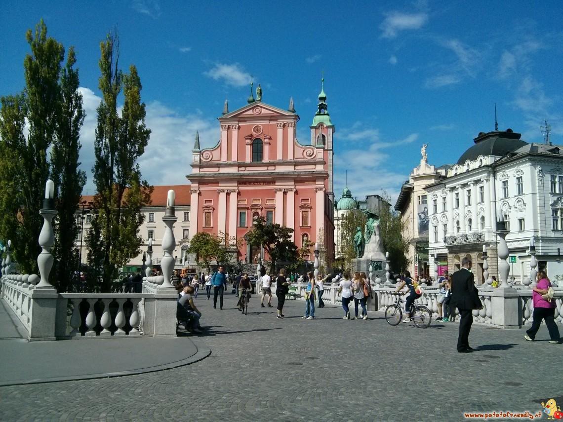 Il centro storico di Lubiana