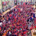 Il Carnevale di Ivrea - Vista della Piazza Nazionale gremita