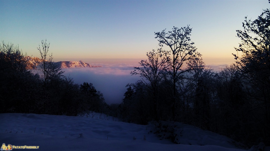 Tramonto sul mare di nuvole dal Pian dei Resinelli