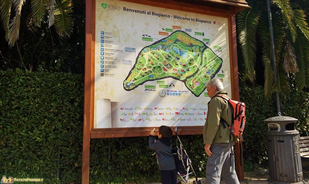 Il Bioparco di Roma - La mappa del Parco