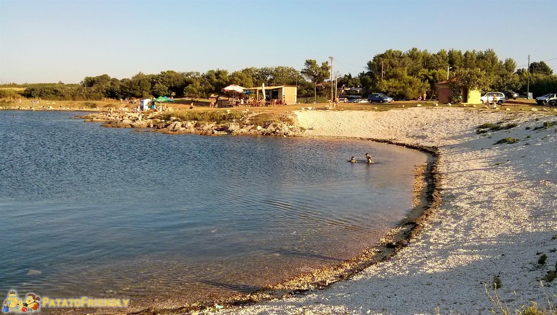 [cml_media_alt id='5433']La piccola spiaggia di Liznian al tramonto - Istria[/cml_media_alt]