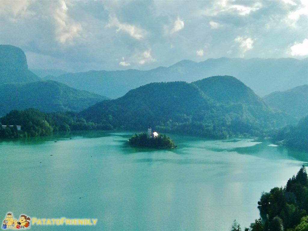 Lago di Bled - Il lago visto dal Castello di Bled
