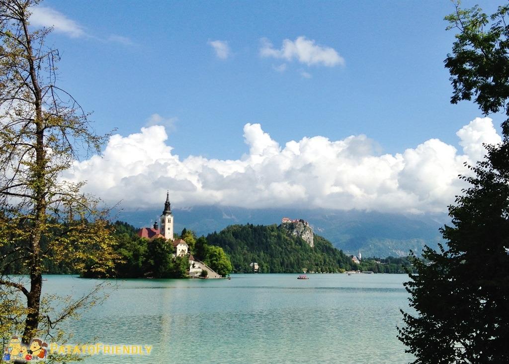 Lago di Bled - Vista del Lago con l'isola di Bled e il Castello