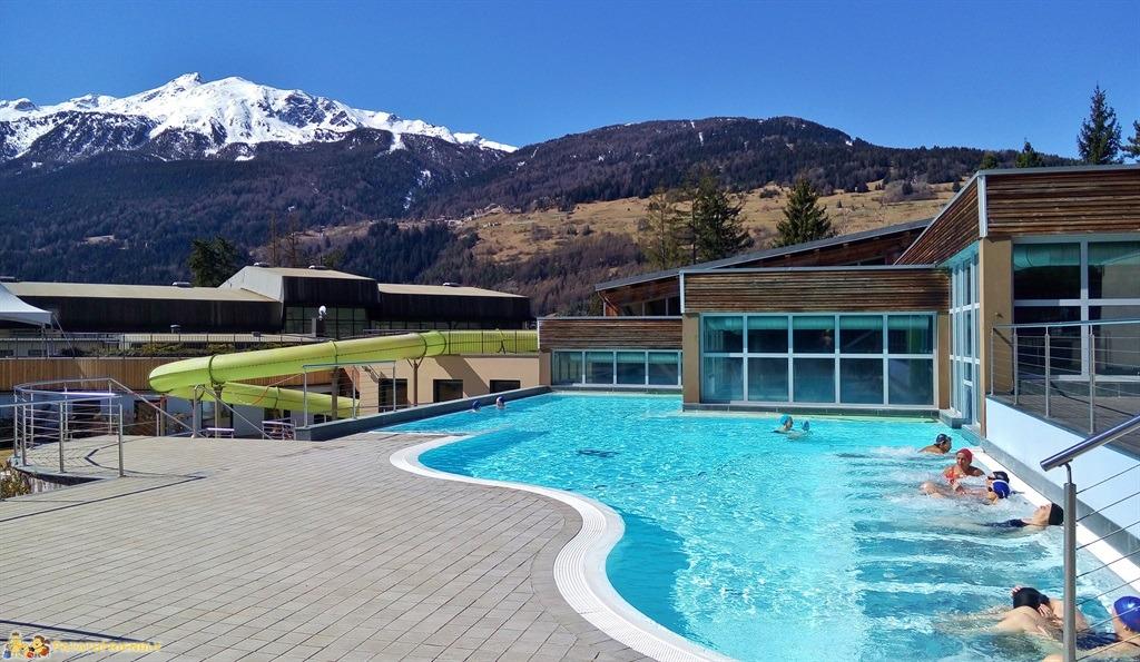 Le Terme di Bormio - L'area idromassaggio esterna della piscina riscaldata