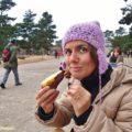 Francesca alle prese con la mitica patata dolce giapponese