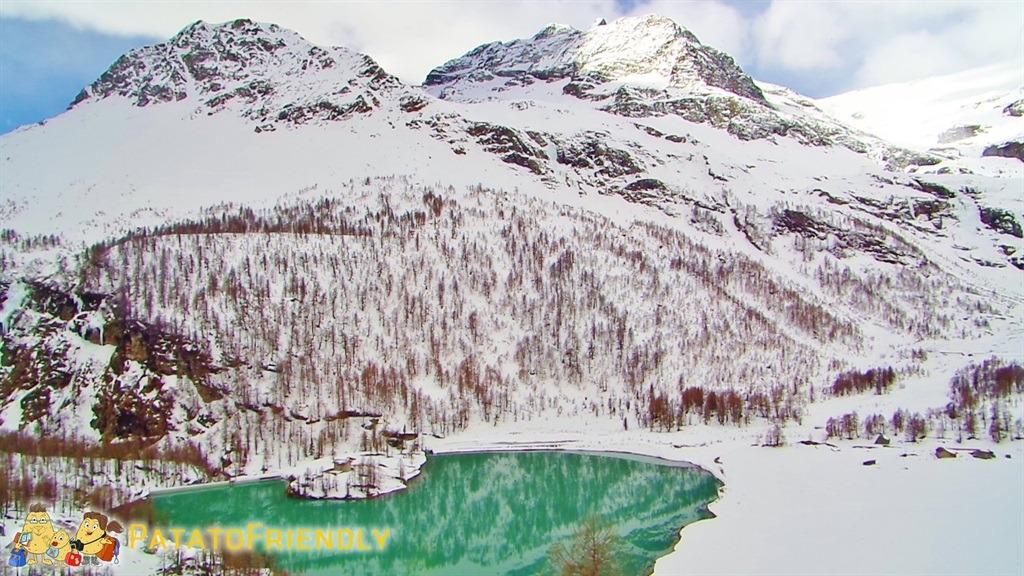 Il trenino del Bernina - Panorama sul Lago Palù