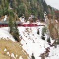 Il trenino rosso del Bernina - Il treno si inerpica fra i ghiacciai