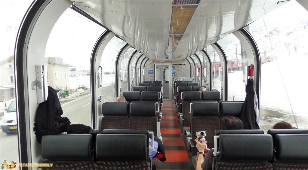 gita sul trenino rosso del bernina con i bambini