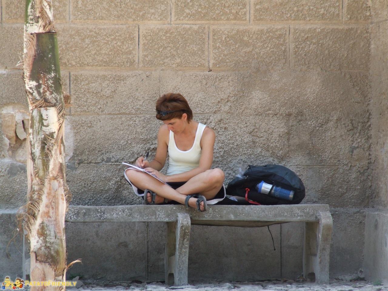Da brava Travel Blogger prendo appunti durante il mio viaggio in Israele