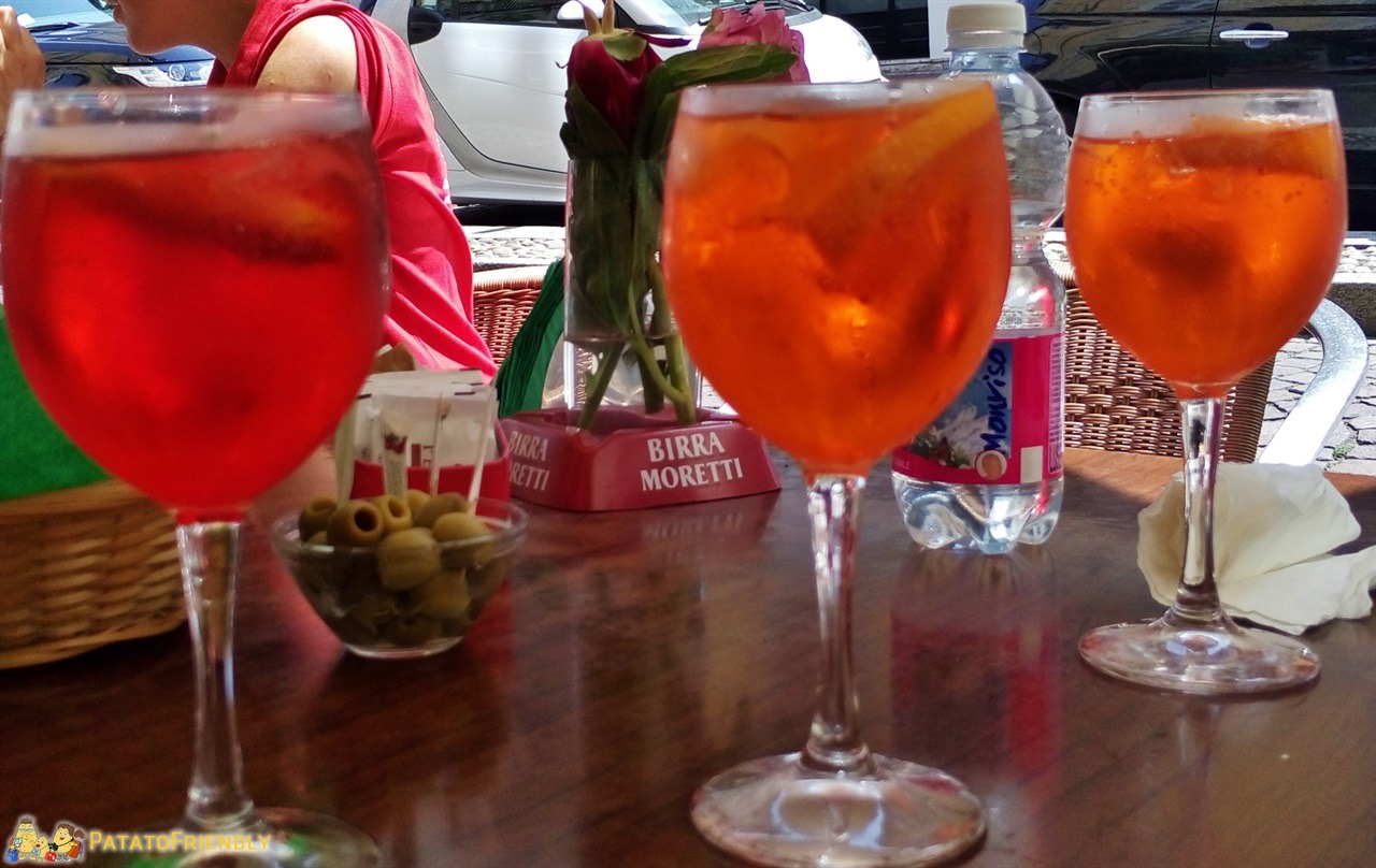 Milan food tour - The Spritz, a typical italian aperitif