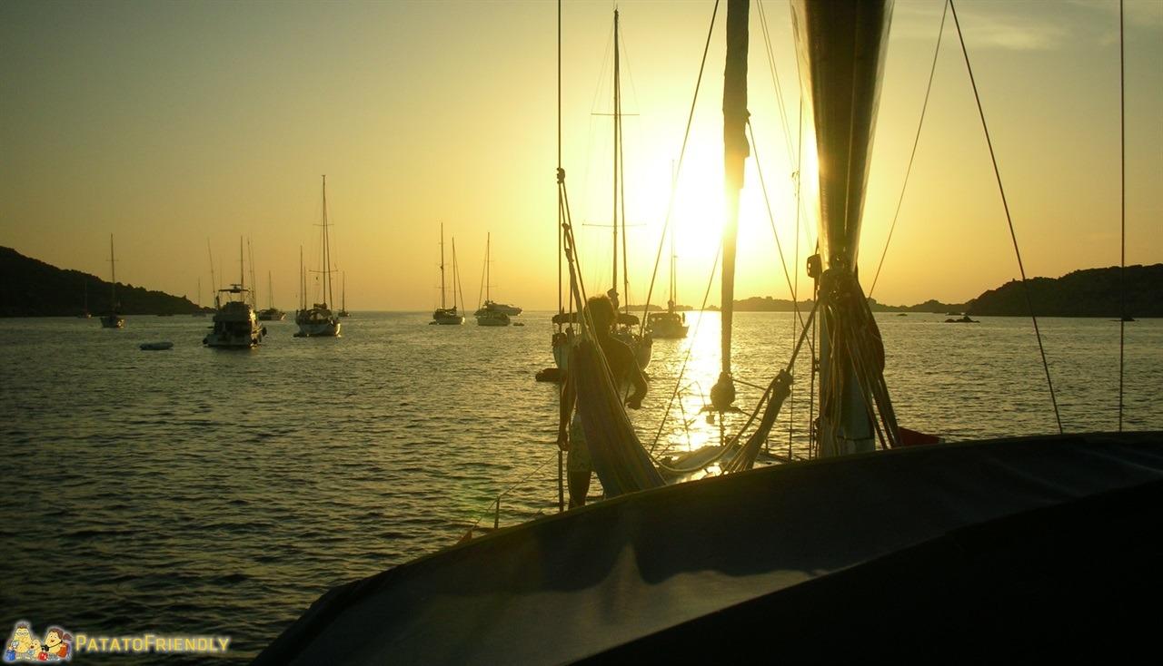 Vacanza in barca a vela - Tramonto