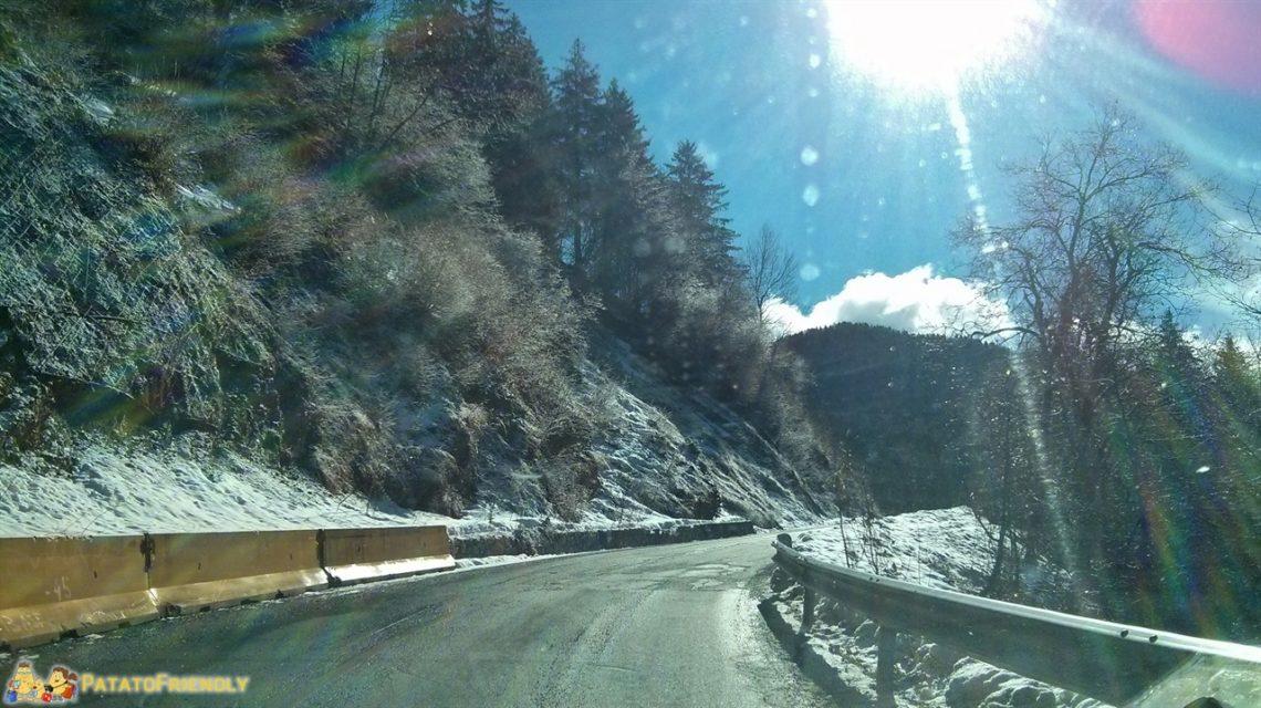 Monte Pora - La strada innevata da Castione della Presolana