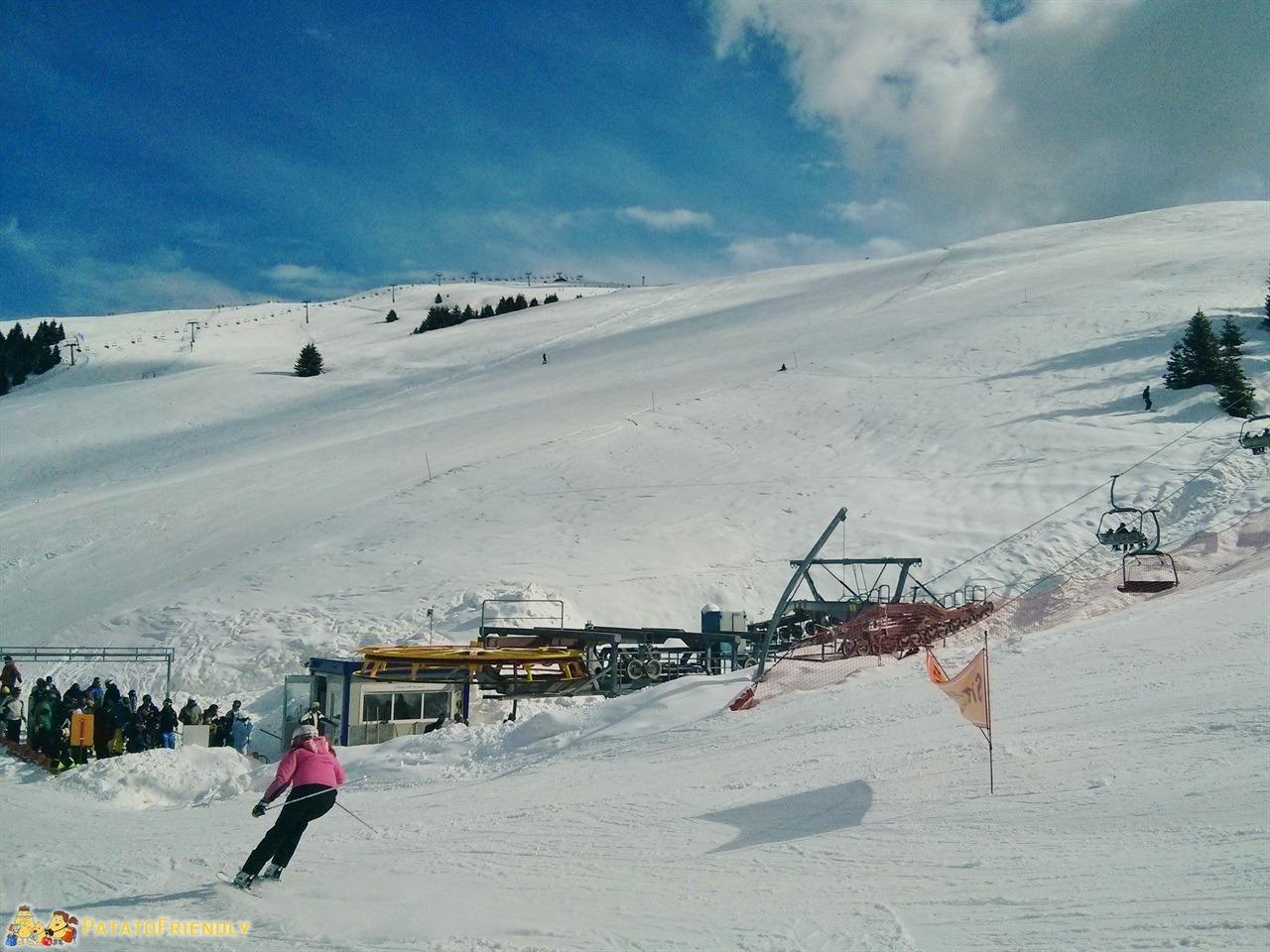 Monte Pora con la neve Le piste da sci