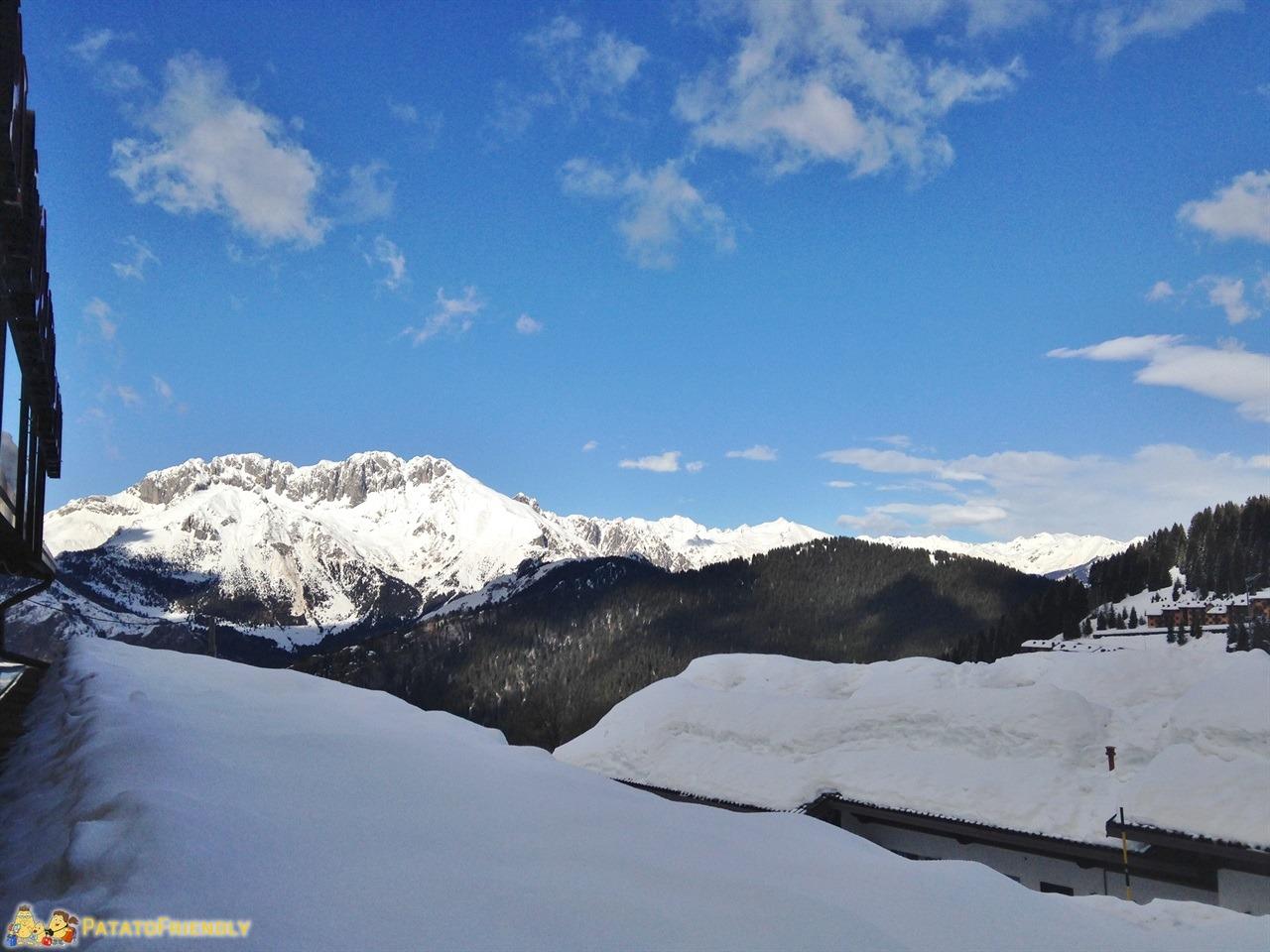 Monte Pora - Il panorama sulle montagne innevate