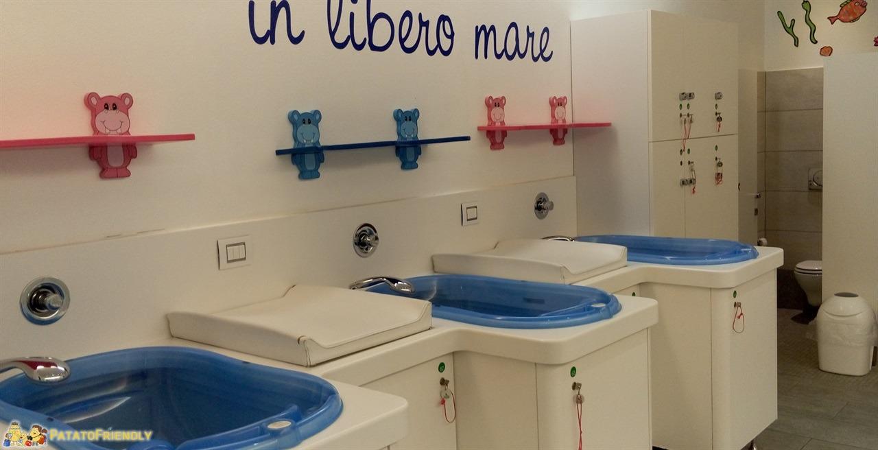 Tata O - La zona bagnetto dedicata ai più piccoli una delle piccole attenzioni della spa per famiglie lombarda