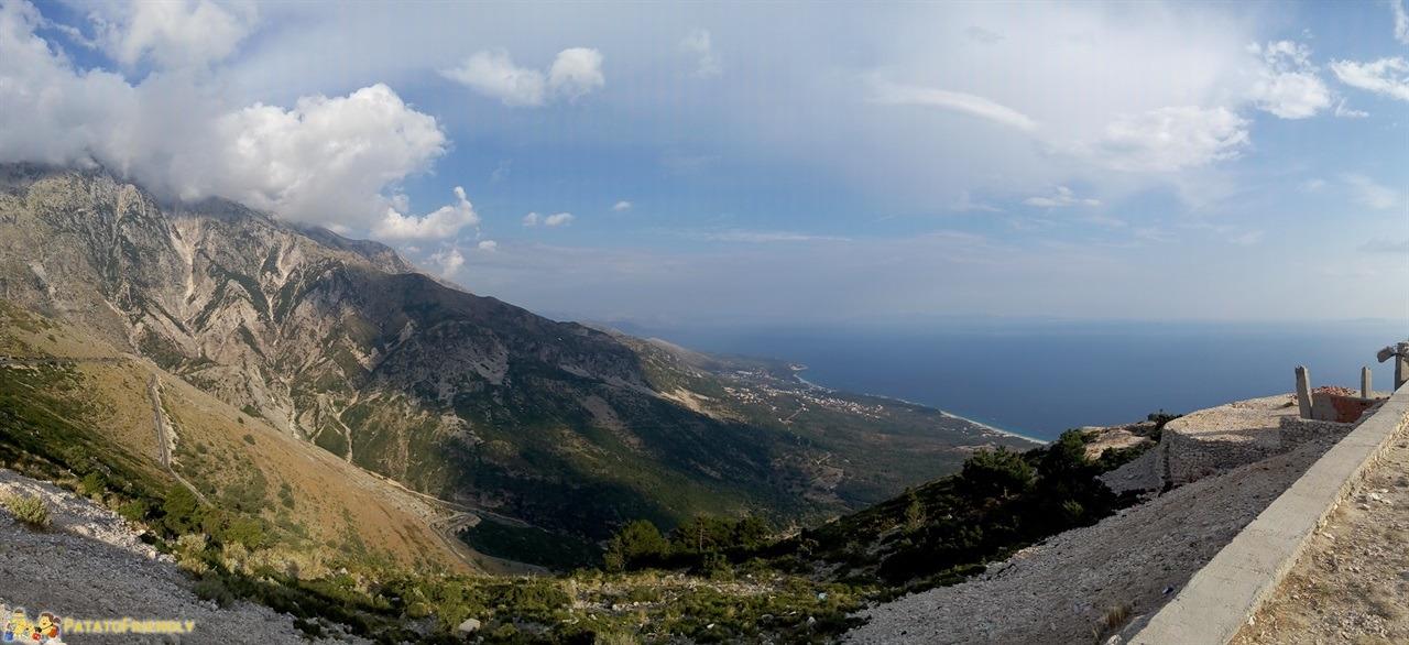 La Riviera Albanese - La spettacolare vista che si gode dal passo di Llogara