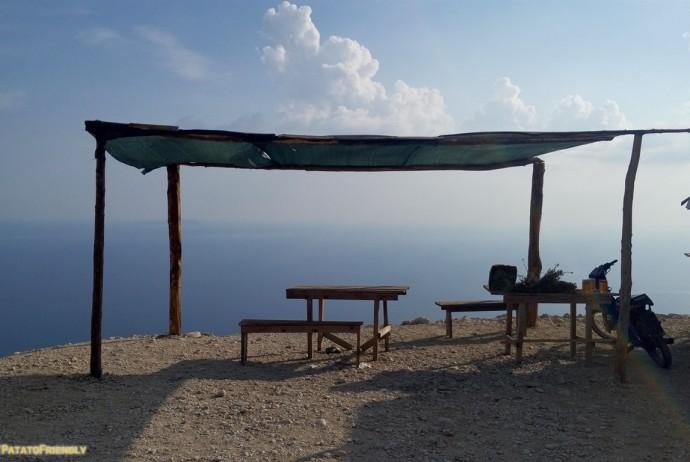 Viaggio in Albania - La vista dal passo di Llogara