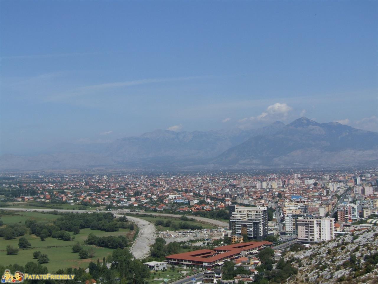 Scutari - Panorama della città dal castello