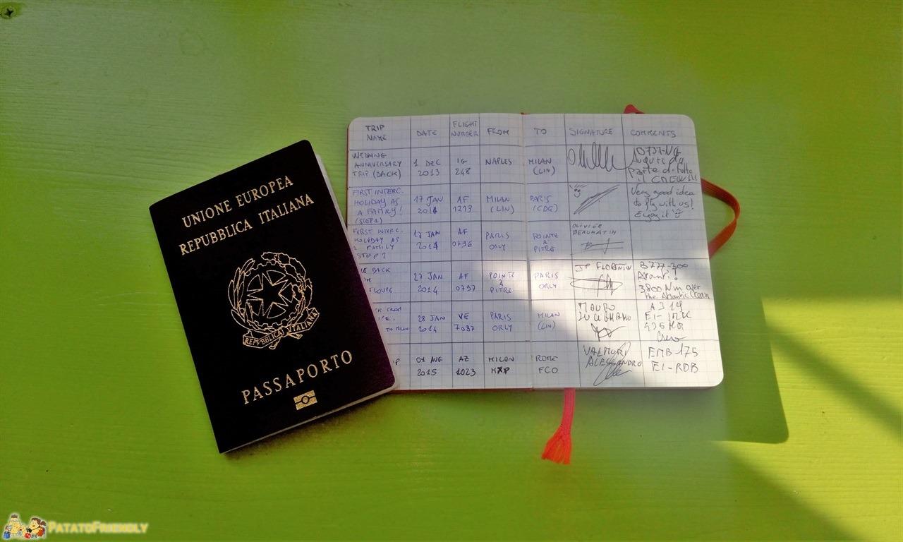 Regali per Natale - Un Flylog dove annotare i voli fatti insieme!