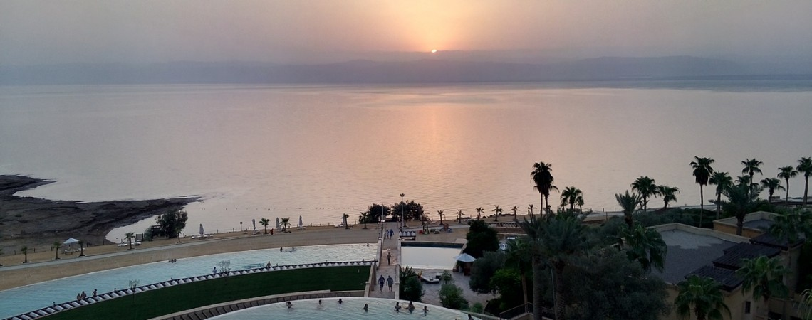 Viaggio in Giordania - Mar Morto - La meravigliosa vista del Kempiski Ishtar