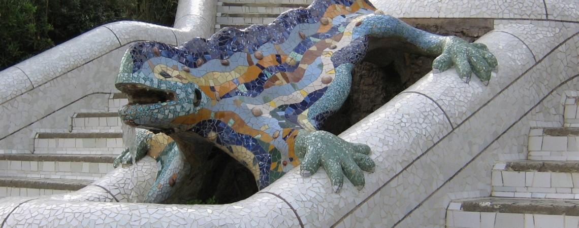 Cosa vedere a Barcellona - La celebre salamandra del Parc Guell