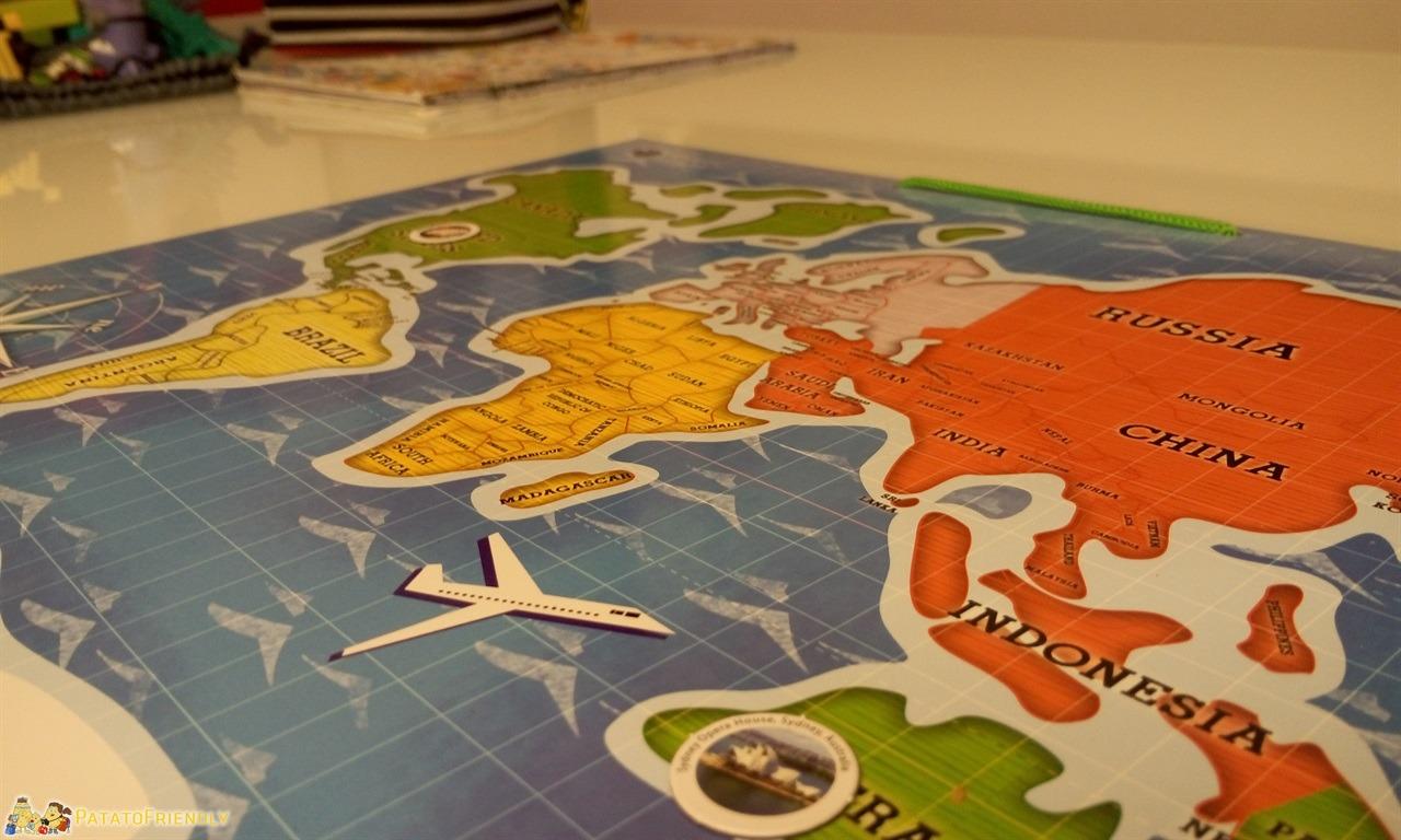 Intrattenere i bambini in viaggio - La mappa del mondo magnetica