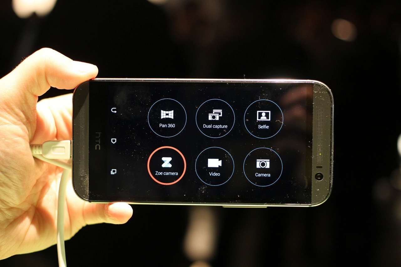 L'interfaccia della fotocamera di un HTC M8 - Credits Maurizio Pesce