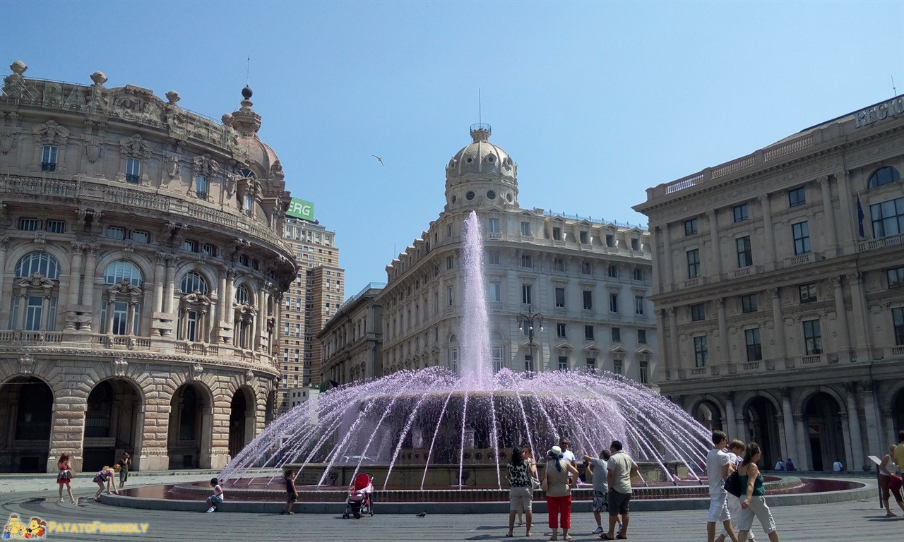 Mangiare a Genova - La fontana di Piazza De Ferrari