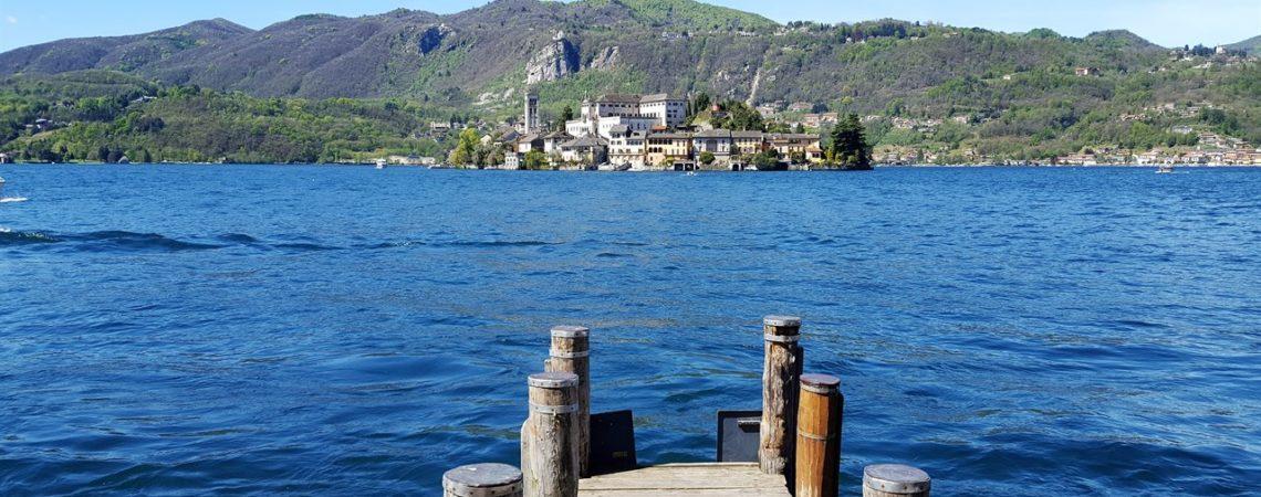 L'isola di San Giulio e il Lago d'Orta