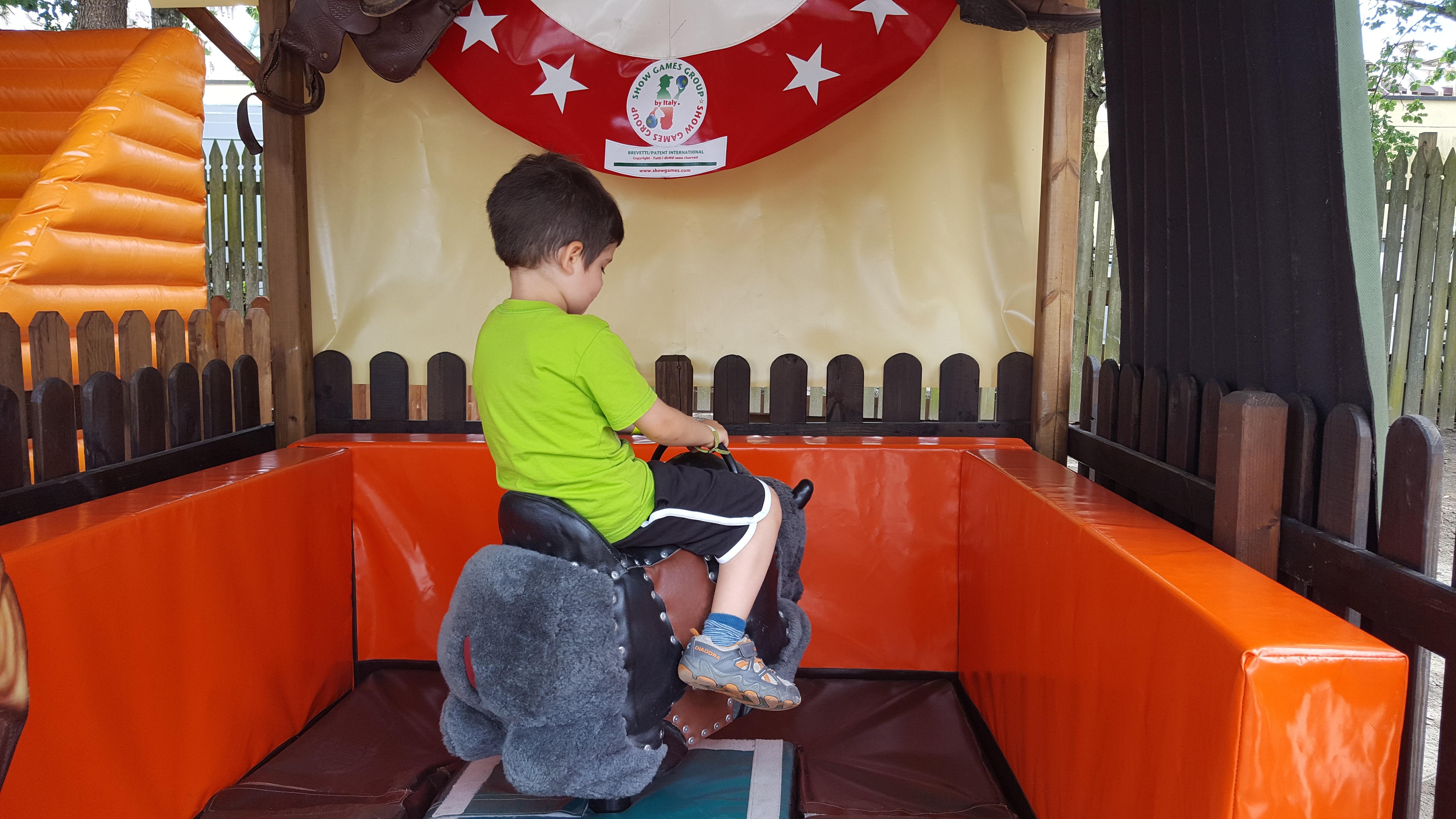 Mirabilandia con un bambino di 4 anni - Patato sul Buffalo mini