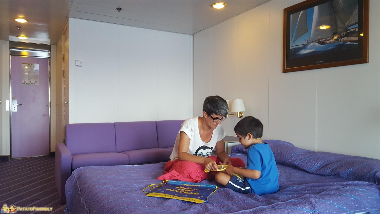 [cml_media_alt id='8454']Corsica in Traghetto - La nostra bellissima cabina durante il viaggio d'andata[/cml_media_alt]