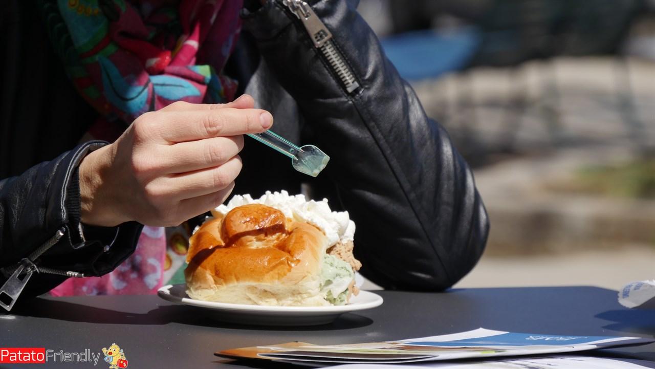 Cosa mangiare in Sicilia - Brioche con gelato