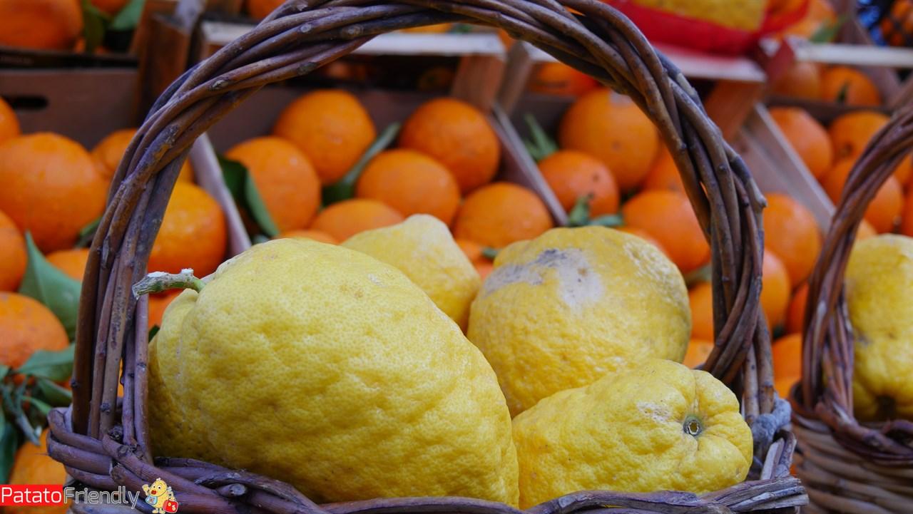 Cosa vedere a Palermo - Cedri e agrumi al Mercato del Capo