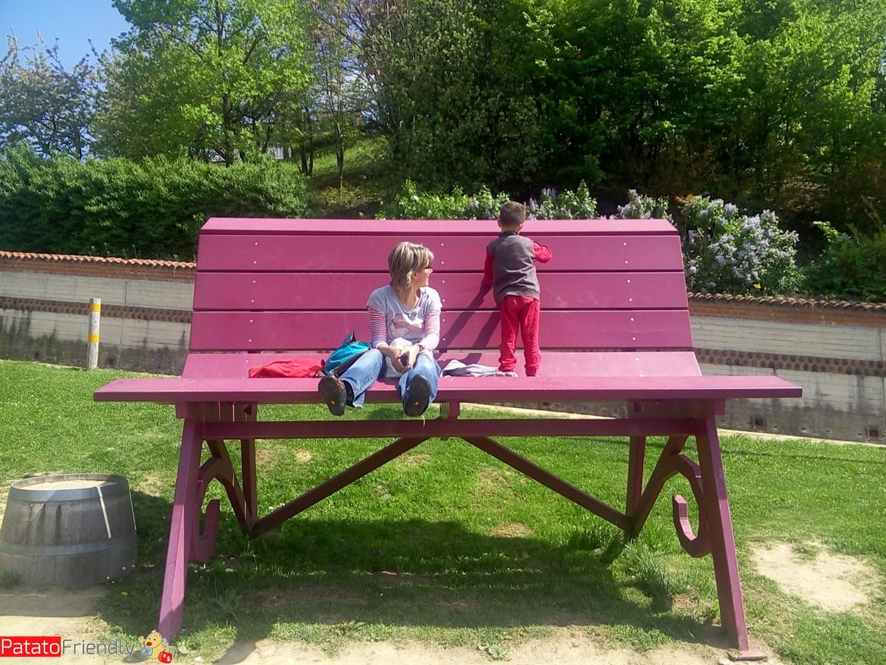 La panchina gigante di Monforte d'Alba