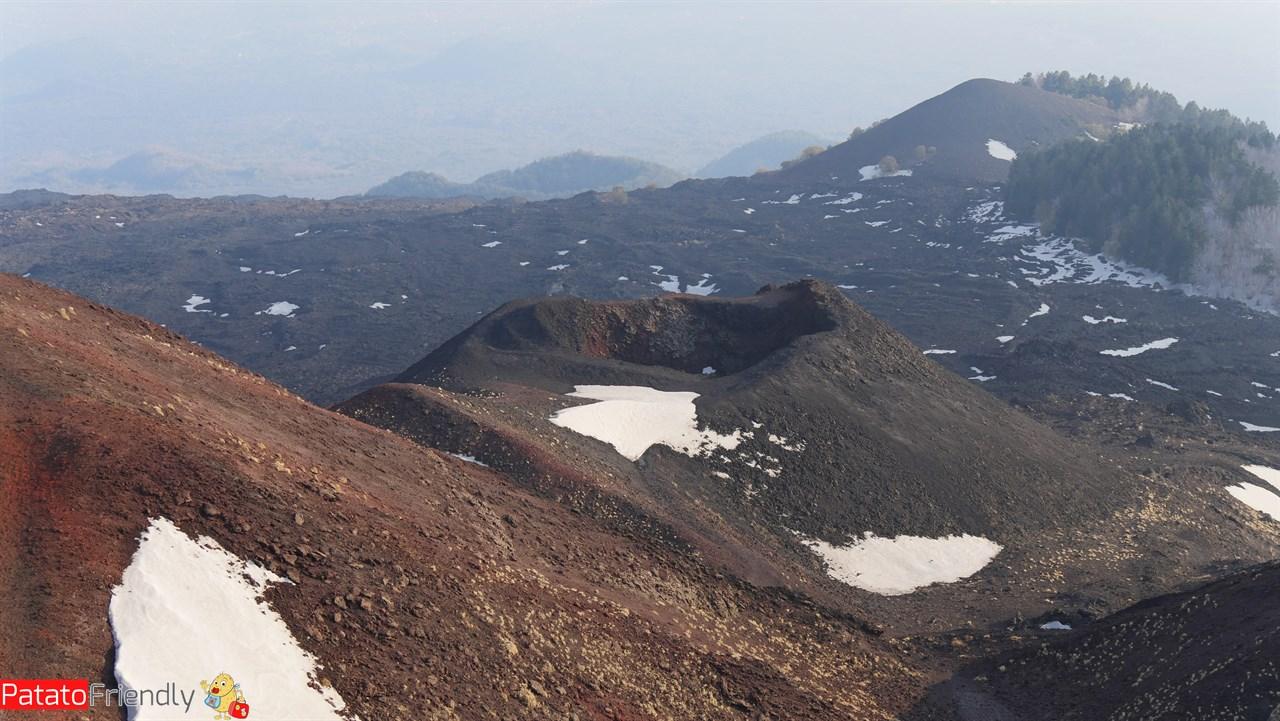 Uno dei Crateri dell'Etna